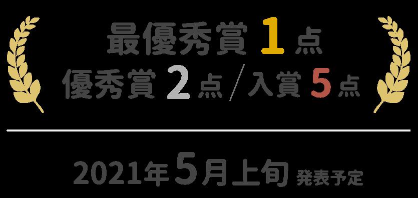 最優秀賞1作品、優秀賞2作品、入賞5作品 2021年5月上旬発表予定